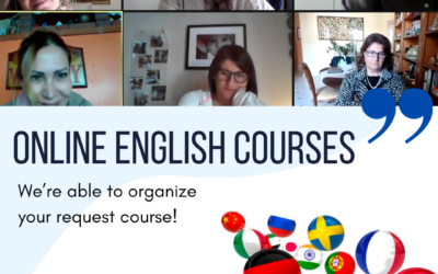 Online English lessons to an Italian group
