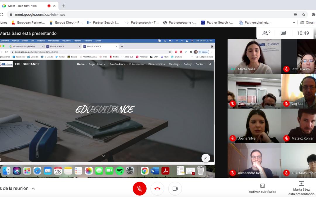 3rd Online Meeting KA2 EDU.GUIDANCE